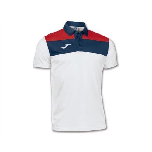 Joma 100246.200 Polo Crew White Navy Erkek Polo T-Shirt