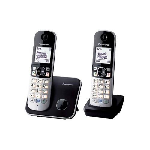 Panasonic Dect Telefon KX-TG6812 Duo Siyah - Gri