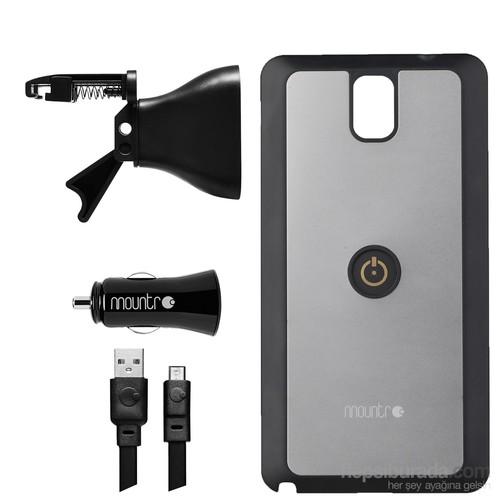 Mountr AIR SET Samsung Galaxy Note 3 N9000 Araç İçi Tutucu Gümüş - SK-AVM-N3S