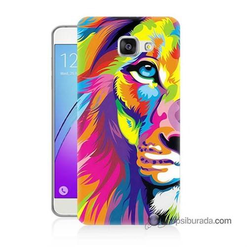 Teknomeg Samsung Galaxy A5 2016 Kılıf Kapak Renkli Aslan Baskılı Silikon