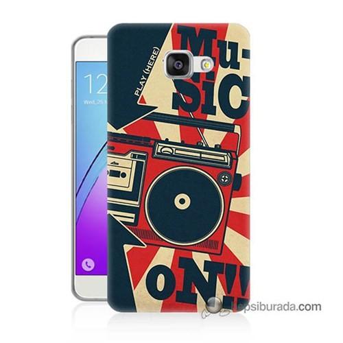 Teknomeg Samsung Galaxy A5 2016 Kapak Kılıf Müzik Baskılı Silikon