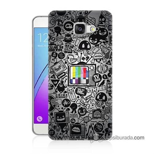Teknomeg Samsung Galaxy A5 2016 Kapak Kılıf Renkli Tv Baskılı Silikon
