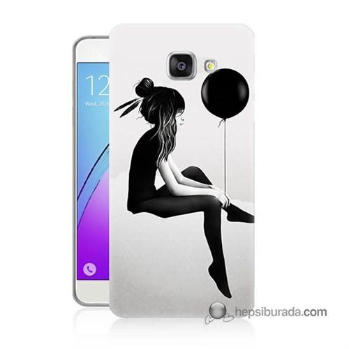 Teknomeg Samsung Galaxy A5 2016 Kapak Kılıf Balonlu Kız Baskılı Silikon