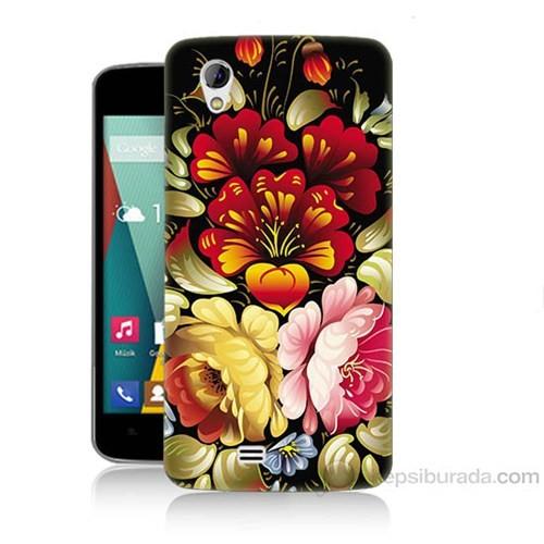 Teknomeg General Mobile Discovery 2 Mini Çiçekler Baskılı Silikon Kapak Kılıf