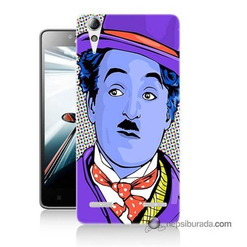 Teknomeg Lenovo A6010 Kapak Kılıf Charlie Chaplin Baskılı Silikon