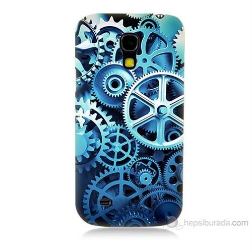 Teknomeg Samsung Galaxy S4 Mini Çarklar Baskılı Silikon Kılıf