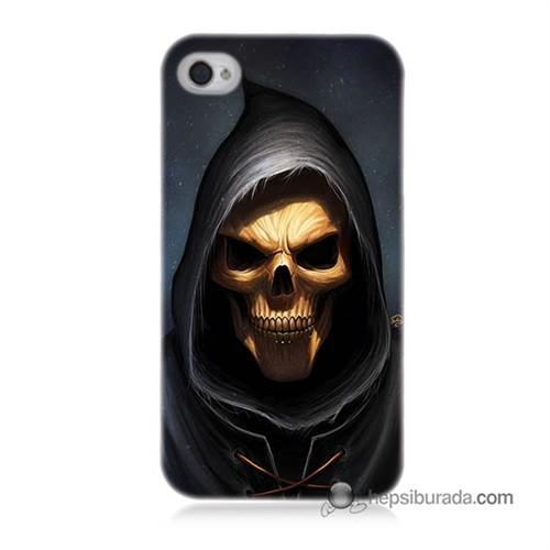 Teknomeg İphone 4S Kılıf Kapak Ölüm Meleği Baskılı Silikon