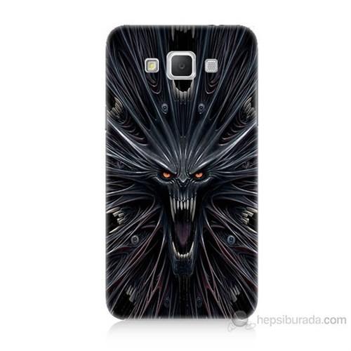Teknomeg Samsung Galaxy Grand Max Korku Canavarı Baskılı Silikon Kılıf