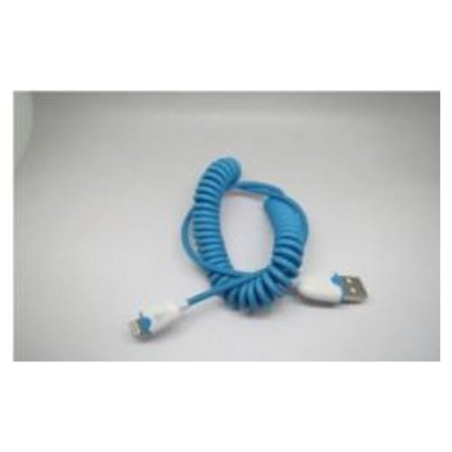 Inova Invusb10 Inova İphone 6 Plus/6/5S/5 , İpad Ios 8.1 Uyumlu Spiral Data Kablosu Mavi