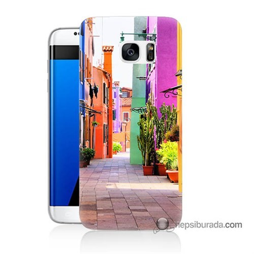 Teknomeg Samsung Galaxy S7 Edge Kılıf Kapak Sokak Baskılı Silikon