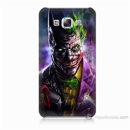 Teknomeg Samsung Galaxy E5 Batman Vs Joker Baskılı Silikon Kılıf