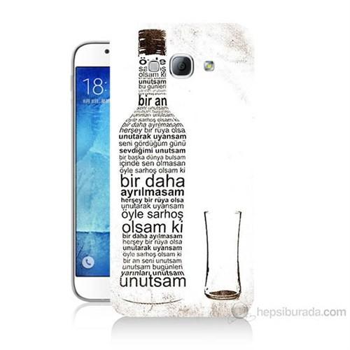 Teknomeg Samsung Galaxy A8 Rakı Şişesi Baskılı Silikon Kılıf