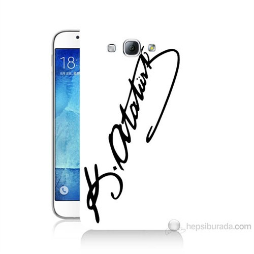 Teknomeg Samsung Galaxy A8 Atatürk İmza Baskılı Silikon Kılıf