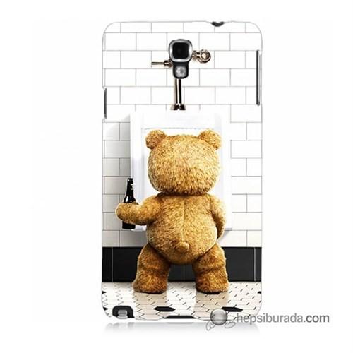 Teknomeg Samsung Galaxy Note 3 Neo Kılıf Kapak Tedy Bear Baskılı Silikon