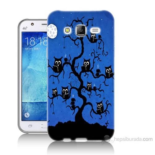Teknomeg Samsung Galaxy J7 Kapak Kılıf Baykuşlar Baskılı Silikon