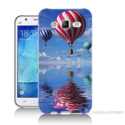 Teknomeg Samsung Galaxy J7 Kapak Kılıf Renkli Balonlar Baskılı Silikon