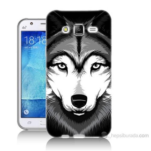 Teknomeg Samsung Galaxy J7 Kapak Kılıf Kurt Baskılı Silikon