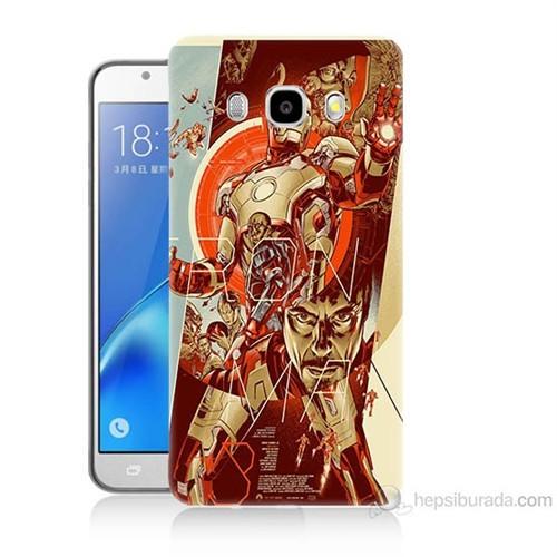 Teknomeg Samsung Galaxy J7 2016 Kapak Kılıf İron Man Afiş Baskılı Silikon