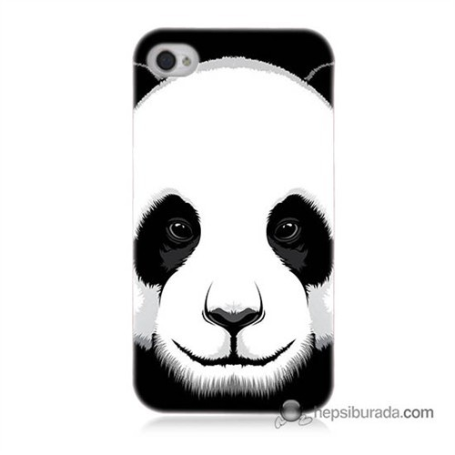 Teknomeg İphone 4S Kapak Kılıf Panda Baskılı Silikon