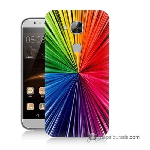 Teknomeg Huawei G8 Kapak Kılıf Renkler Baskılı Silikon