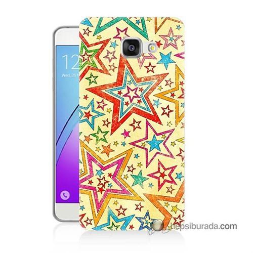 Teknomeg Samsung Galaxy A3 2016 Kılıf Kapak Yıldızlar Baskılı Silikon