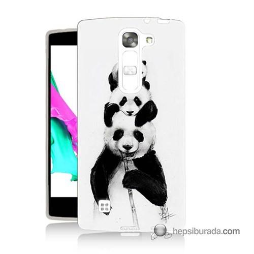 Teknomeg Lg Magna Kapak Kılıf Panda Ailesi Baskılı Silikon