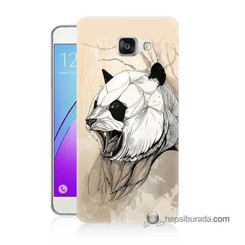Teknomeg Samsung Galaxy A7 2016 Kapak Kılıf Kavgacı Panda Baskılı Silikon