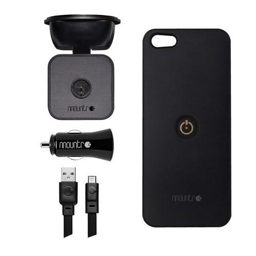 Mountr iPhone 5/5S Uyumlu Akıllı Araç Tutacağı ( Siyah Kapak ) - SK-SCM-i5B