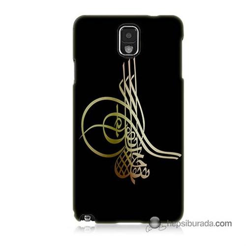 Teknomeg Samsung Galaxy Note 3 Kılıf Kapak Tuğra Osmanlı Baskılı Silikon