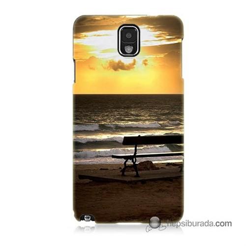 Teknomeg Samsung Galaxy Note 3 Kılıf Kapak Gün Batımı Baskılı Silikon