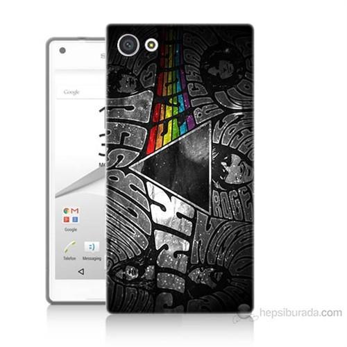 Teknomeg Sony Xperia Z5 Mini Pink Floyd Baskılı Silikon Kılıf