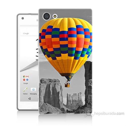Teknomeg Sony Xperia Z5 Mini Renkli Uçan Balon Baskılı Silikon Kılıf