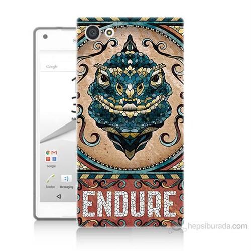 Teknomeg Sony Xperia Z5 Mini Endure Baskılı Silikon Kılıf