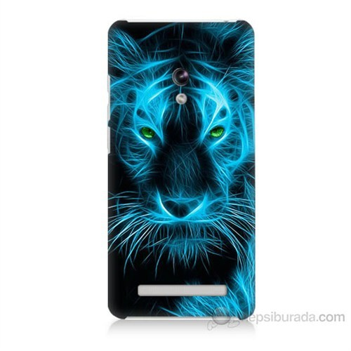 Teknomeg Asus Zenfone 5 Lite Mavi Kaplan Baskılı Silikon Kapak Kılıf