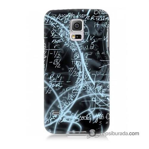 Teknomeg Samsung Galaxy S5 Kapak Kılıf Matematik Baskılı Silikon