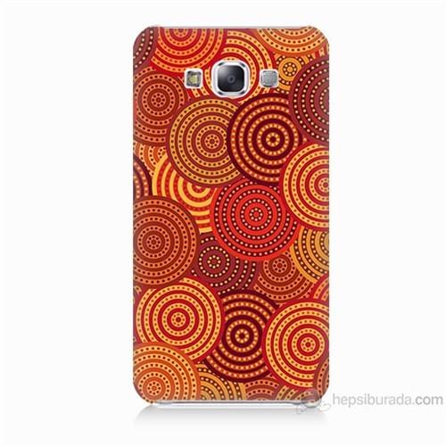 Teknomeg Samsung Galaxy E7 Kapak Kılıf Daireler Baskılı Silikon