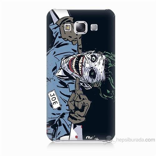 Teknomeg Samsung Galaxy E7 Kapak Kılıf Joe Joker Baskılı Silikon