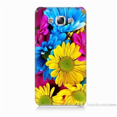 Teknomeg Samsung Galaxy E7 Kapak Kılıf Kasımpatı Baskılı Silikon