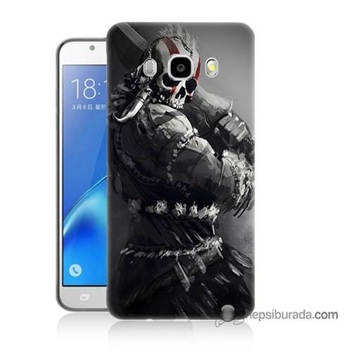 Teknomeg Samsung J5 2016 Kılıf Kapak Tribal Warrior Baskılı Silikon