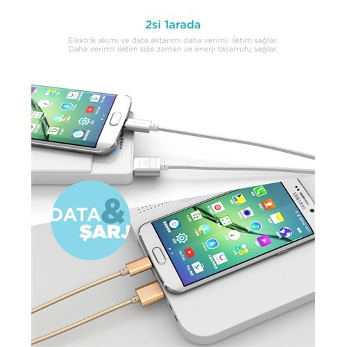Pineng Pn-306 2 Metre Micro Usb Data Kablosu