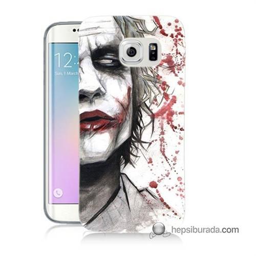 Teknomeg Samsung Galaxy S6 Edge Plus Kapak Kılıf Kanlı Joker Baskılı Silikon
