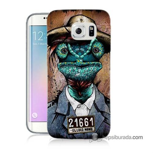 Teknomeg Samsung Galaxy S6 Edge Plus Kılıf Kapak İguana Adam Baskılı Silikon