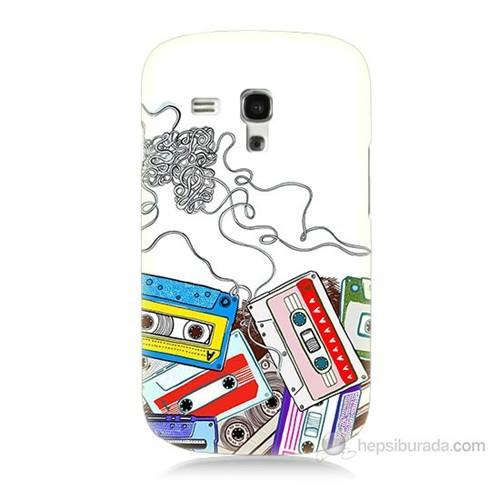 Teknomeg Samsung Galaxy S3 Mini Kasetler Baskılı Silikon Kılıf
