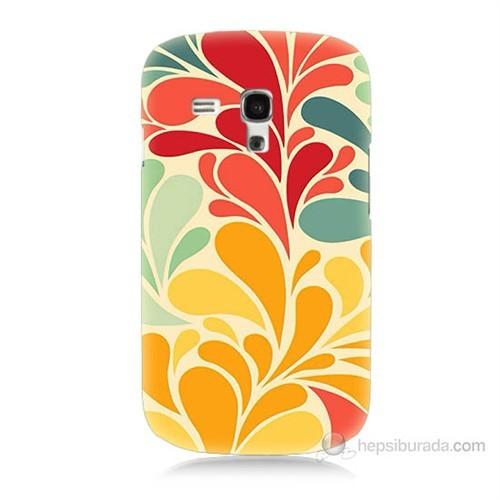 Teknomeg Samsung Galaxy S3 Mini Çiçekler Baskılı Silikon Kılıf