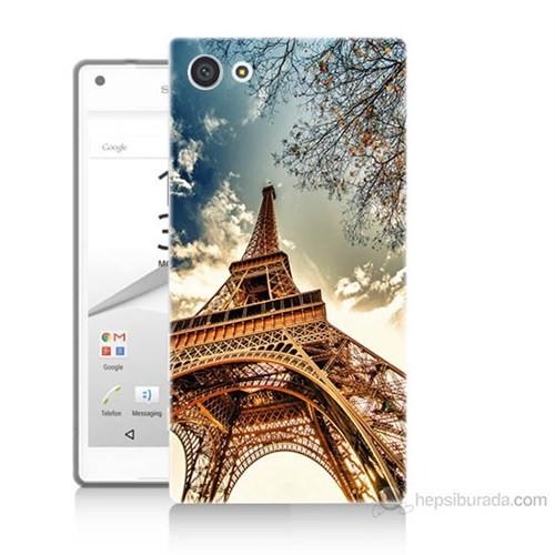 Teknomeg Sony Xperia Z5 Mini Eyfel Kulesi Baskılı Silikon Kılıf