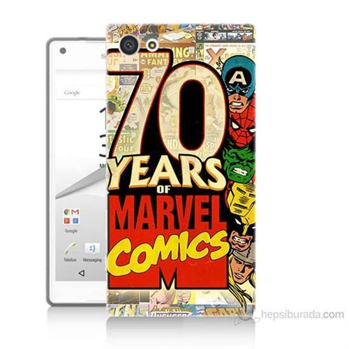 Teknomeg Sony Xperia Z5 Mini Marvel Karakterleri Baskılı Silikon Kılıf