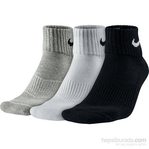 Nike Sx4703-901 3 Renkli Çorap Seti 38-42