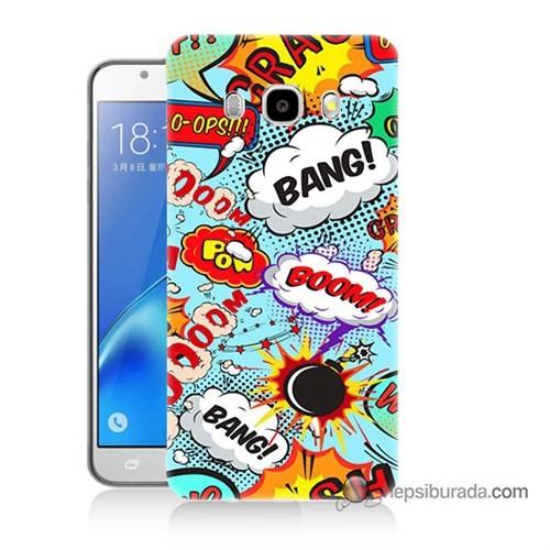 Teknomeg Samsung J5 2016 Kılıf Kapak Savaş Efektleri Baskılı Silikon