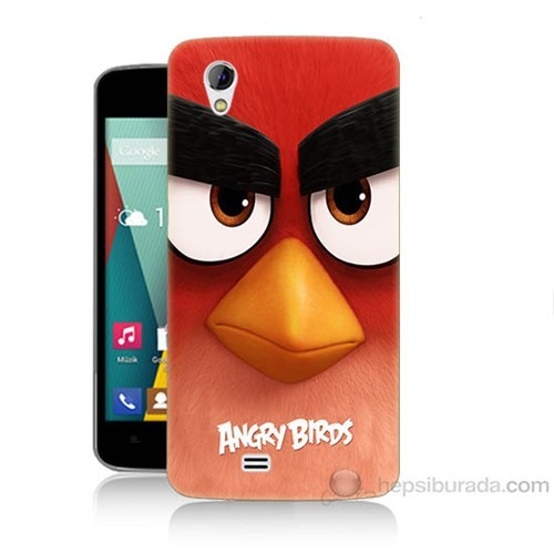 Teknomeg General Mobile Discovery 2 Mini Angry Birds Baskılı Silikon Kapak Kılıf