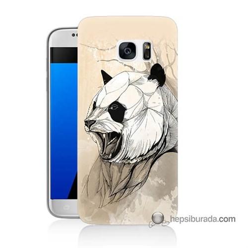 Teknomeg Samsung Galaxy S7 Kapak Kılıf Kavgacı Panda Baskılı Silikon